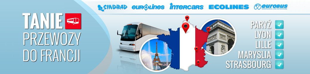 Autobusy do Francji. Tanie bilety online.