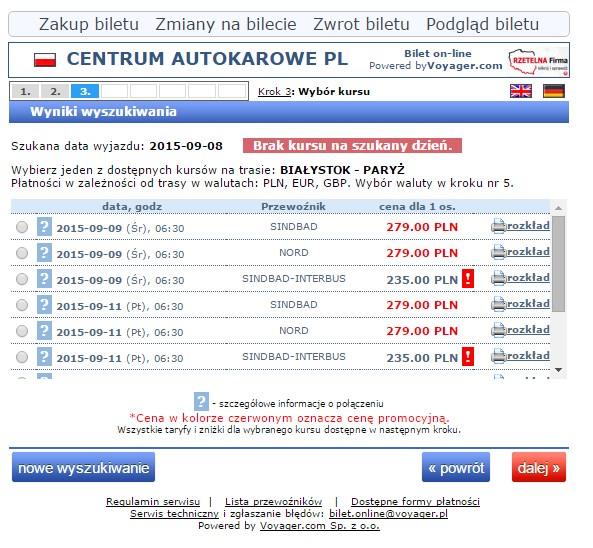bilety autokarowe do paryża